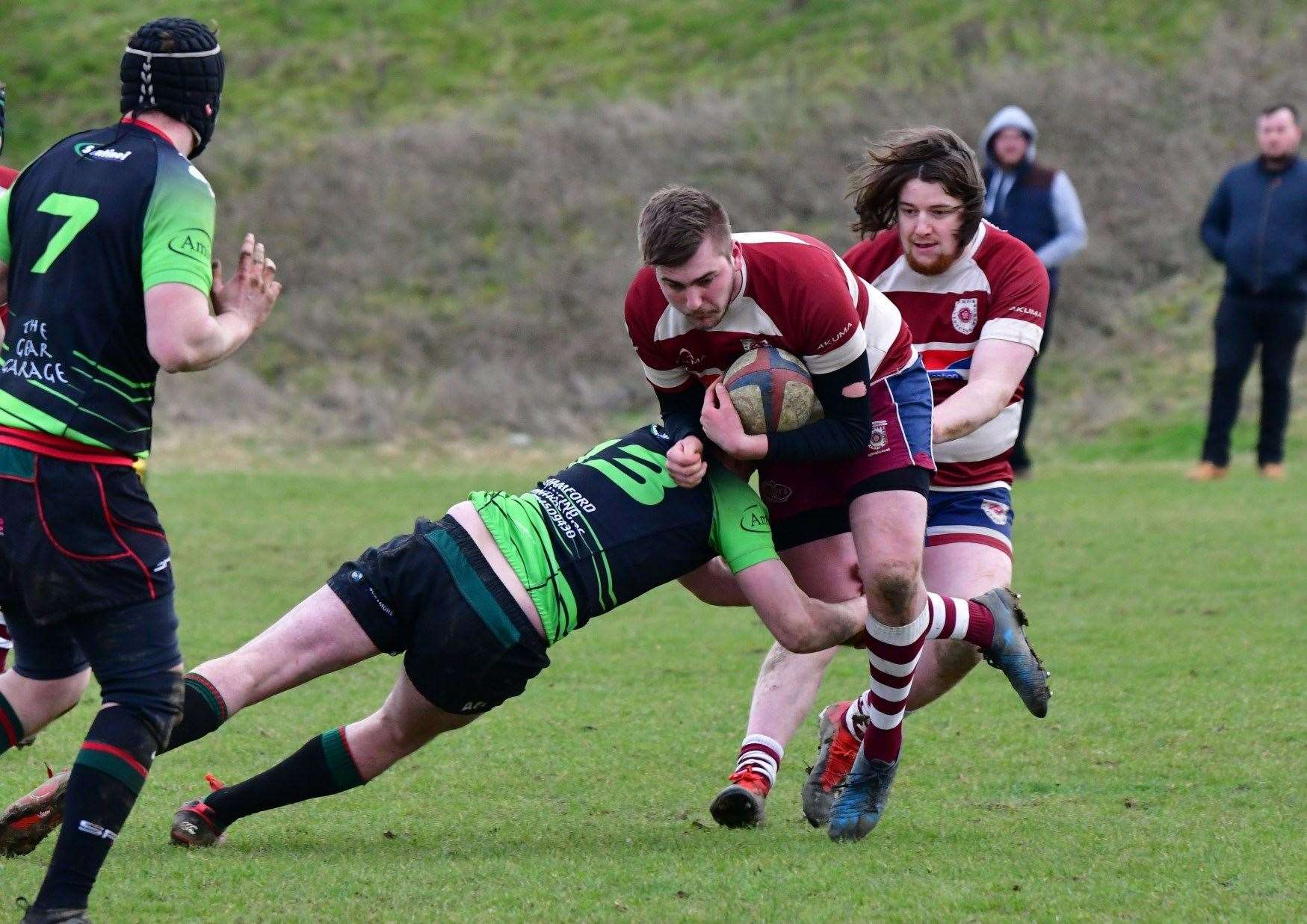 Stamford College Old Boys recorded a superb 17-12 away win at Wellingborough OGs. Photo: Adrian Howes (7684188)