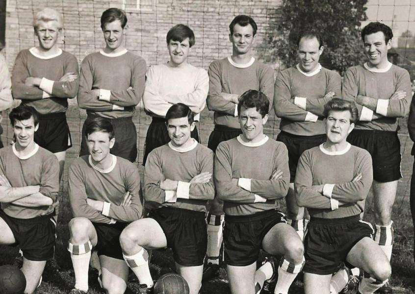 A Stamford Rovers lineup from the 1950s: Back, from left, George Wardle (coach), John Prior, Tony Avent, John Aylin, Ken Ball (captain), Tony Parker, Colin Roberts and Jim Espin (trainer); front, Terry Southern, Alan Romaine, Peter Chappell, Ivan King and Lloyd Smith. EMN-161202-115851001