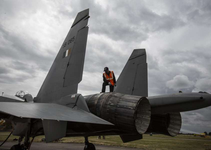 RAF Coningsby is hosting four Su-30MKI Flanker fighters