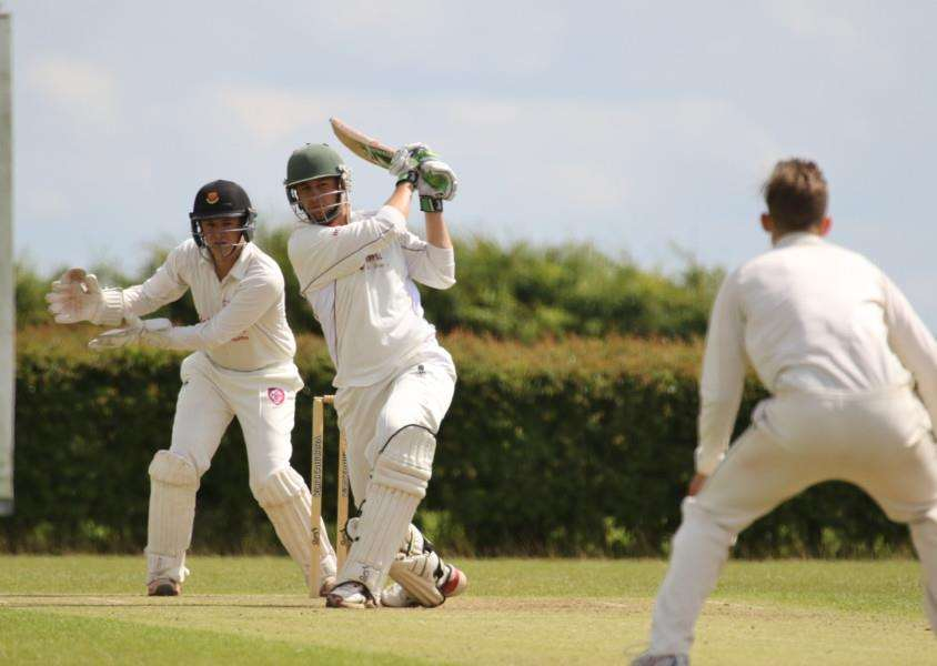Action from Uppingham Town v Oundle in the Rutland League Division One. Photo: Geoff Atton EMN-160507-155917001