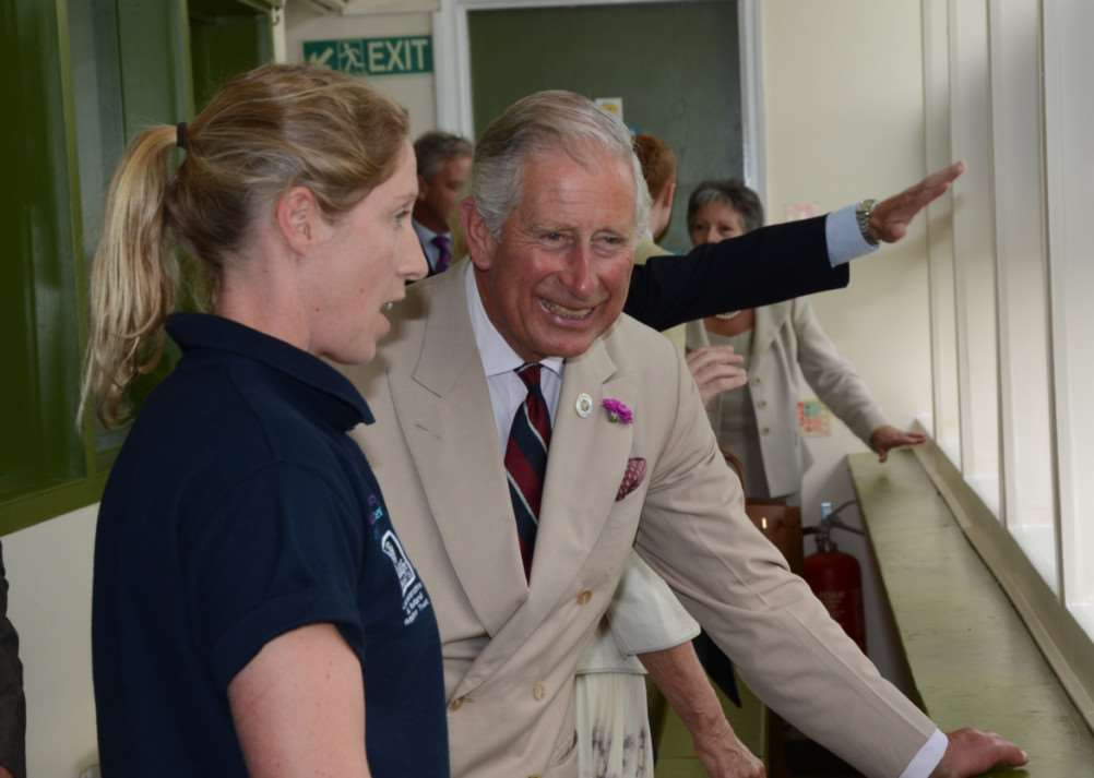 Royal Visit of Charles and Camilla to Rutland Water nature reserve. EMN-140728-163321009