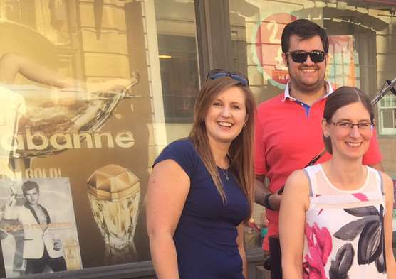 James Walsham, Laura Grimer, Jayne Booth, Chelsea Wilshire and Emma Wilson of Moore Thompson Chartered Accountants are doing a charity trek from Market Deeping to Spalding next month.
