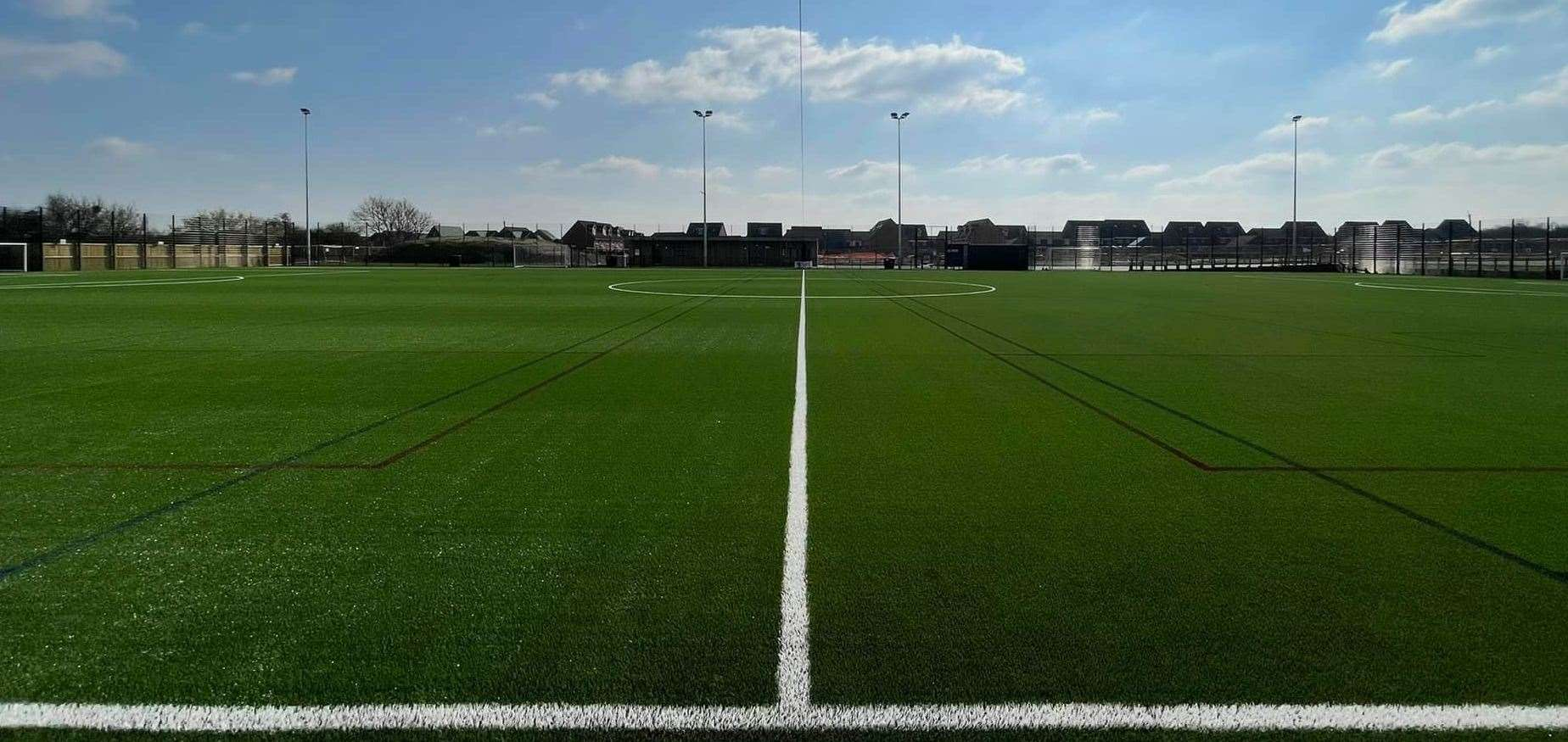 The new artificial pitch at Elsea Park in Bourne. Photo: Elsea Park Community Trust