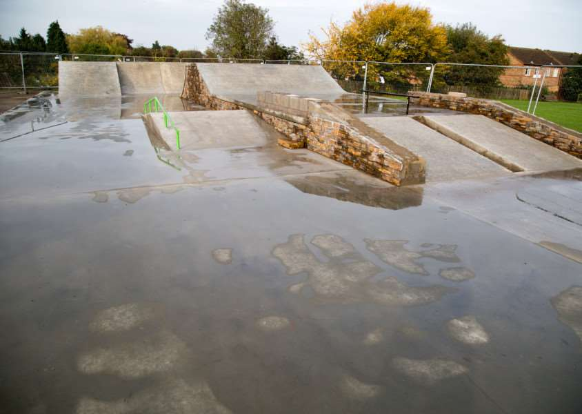 Uppingham Skatepark, which is almost finished. Photo: Neil Wedge EMN-151130-163249001