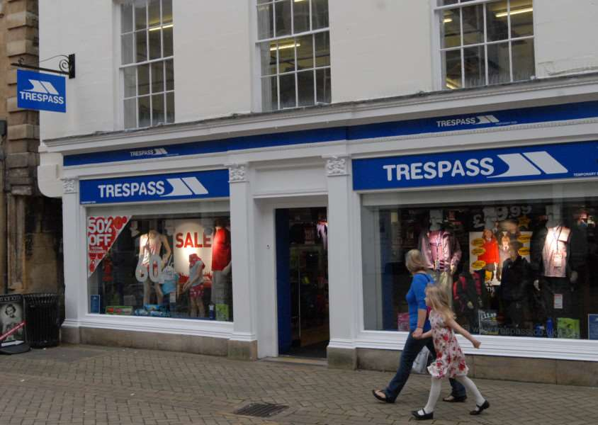 Trespass store, High Streetm Stamford. File picture'Photo: MSMP200812-064js
