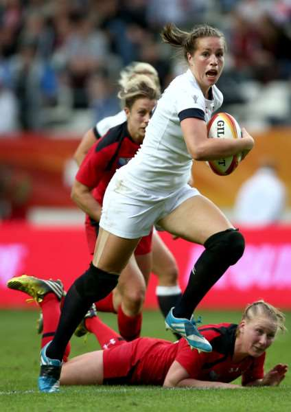 England women's Rugby World Cup winner Emily Scarratt. Photo: Jordan Mansfield/Getty Images. EMN-150713-165605001