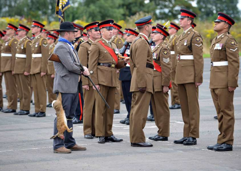2nd Battalion of the Royal lincolnshire Regiment on parade at Kendrew barracks UNCLASSIFIED