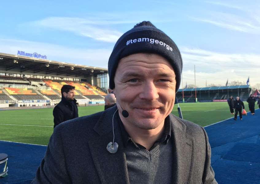 Irish rugby legend Brian O'Driscoll supports the #teamgeorge campaign, set up to help Stamford teenager George Robinson. Photo: Darren Dolby EMN-160119-113514001