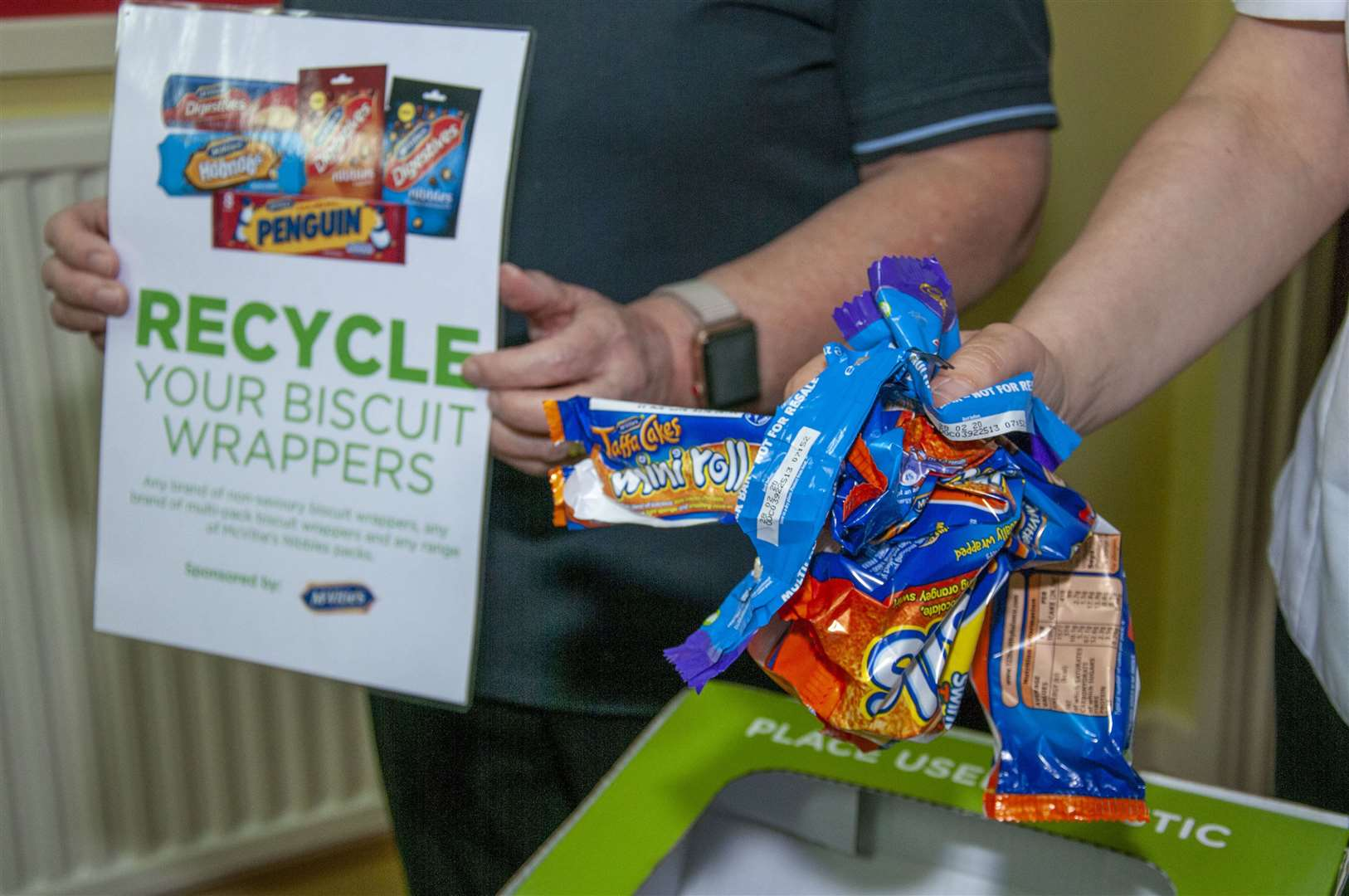 Bourne Salvation Army is collecting biscuit wrappers for recycling