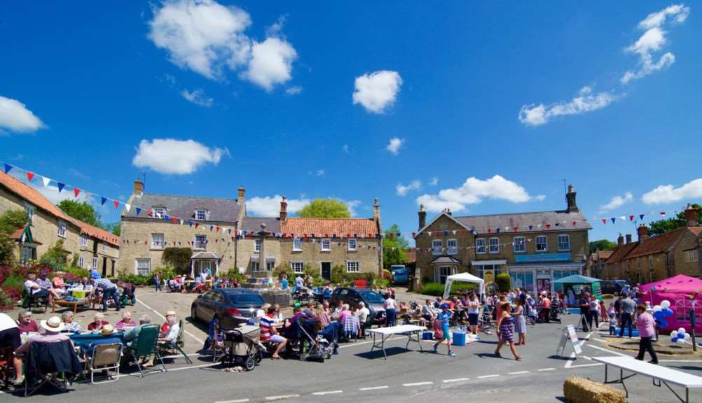 The Corby Glen Big Lunch in Market Place.