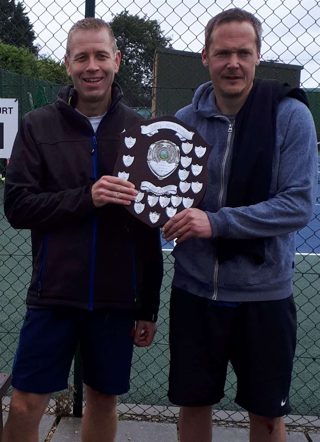 John Timson and James Westgate triumphed in the men's doubles.