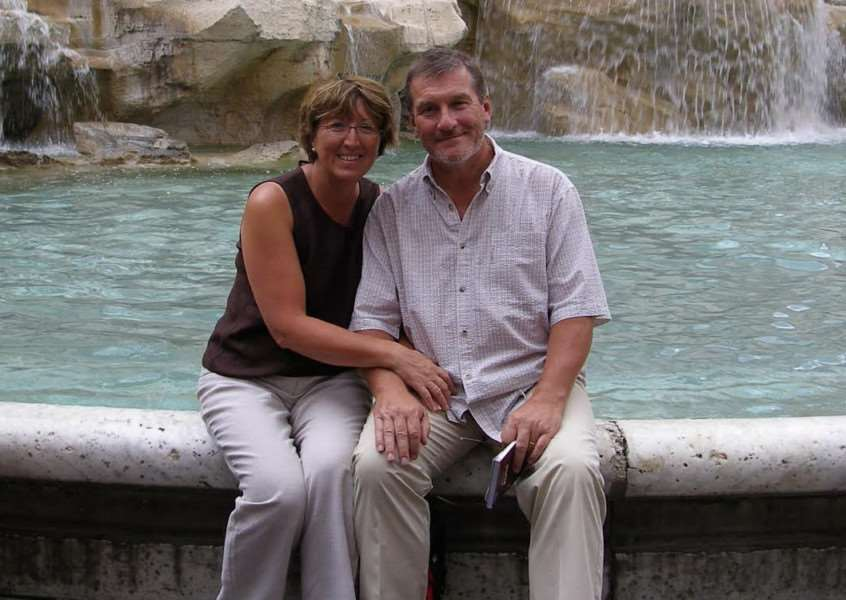 Stuart Morgan and his wife on holiday in Rome.