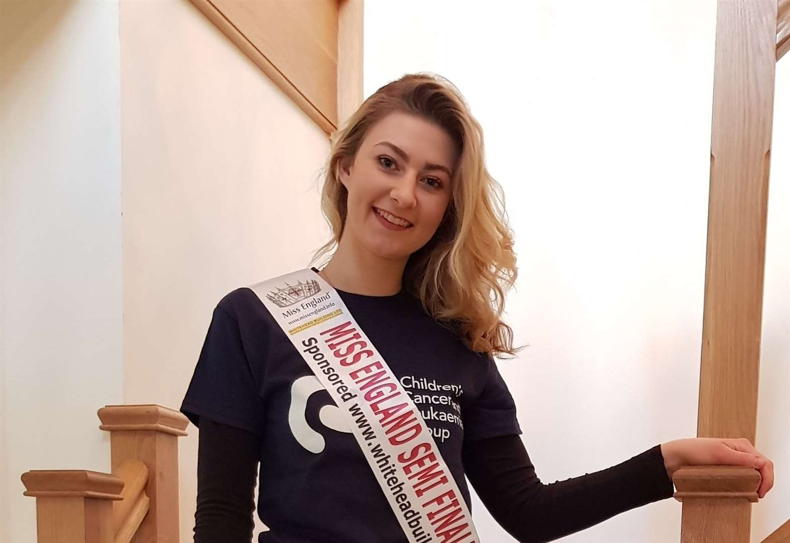 Jodie Whitehead from Manthorpe who is vying to be crowned Miss East Midlands raises £300 for Children's Cancer and Leukaemia Group