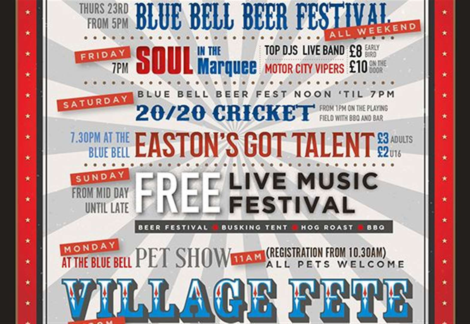 Village Gala and beer festival gets underway