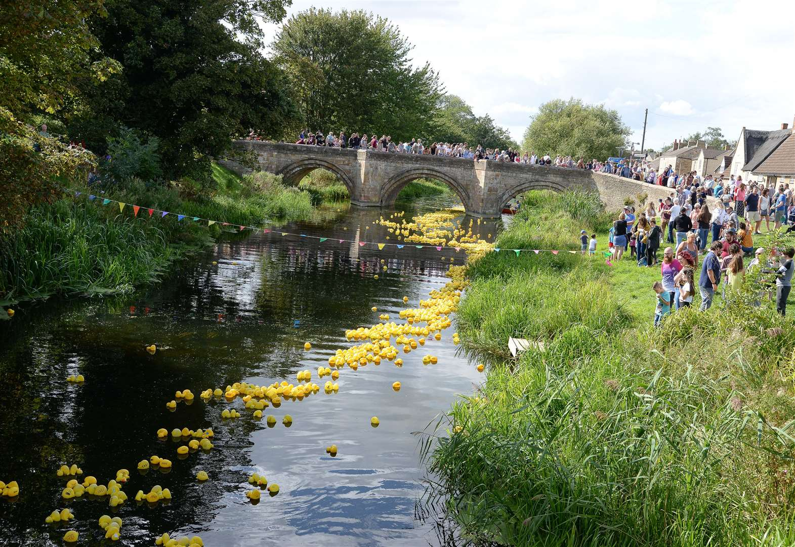 What big surprise was there for spectators at Deepings Duck Race?