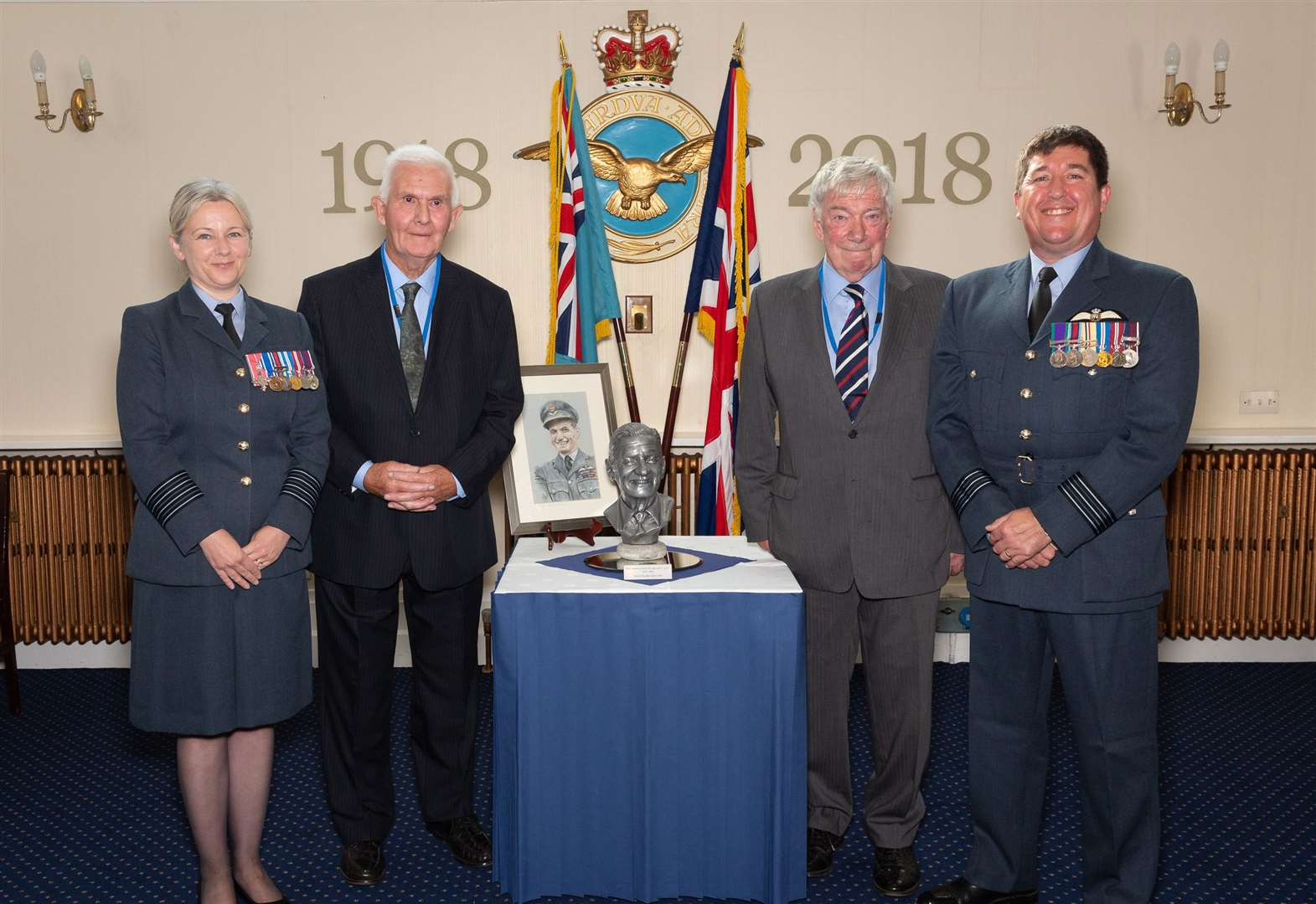 RAF Wittering receives bust in memory of Spitfire ace Johnnie Johnson