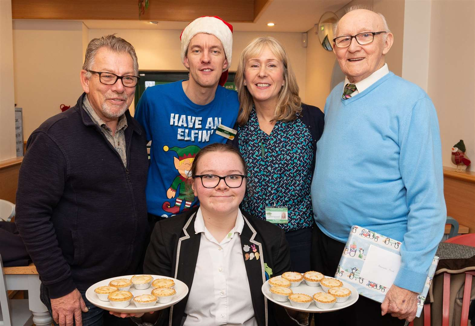 Pupil buys pensioners Christmas lunch