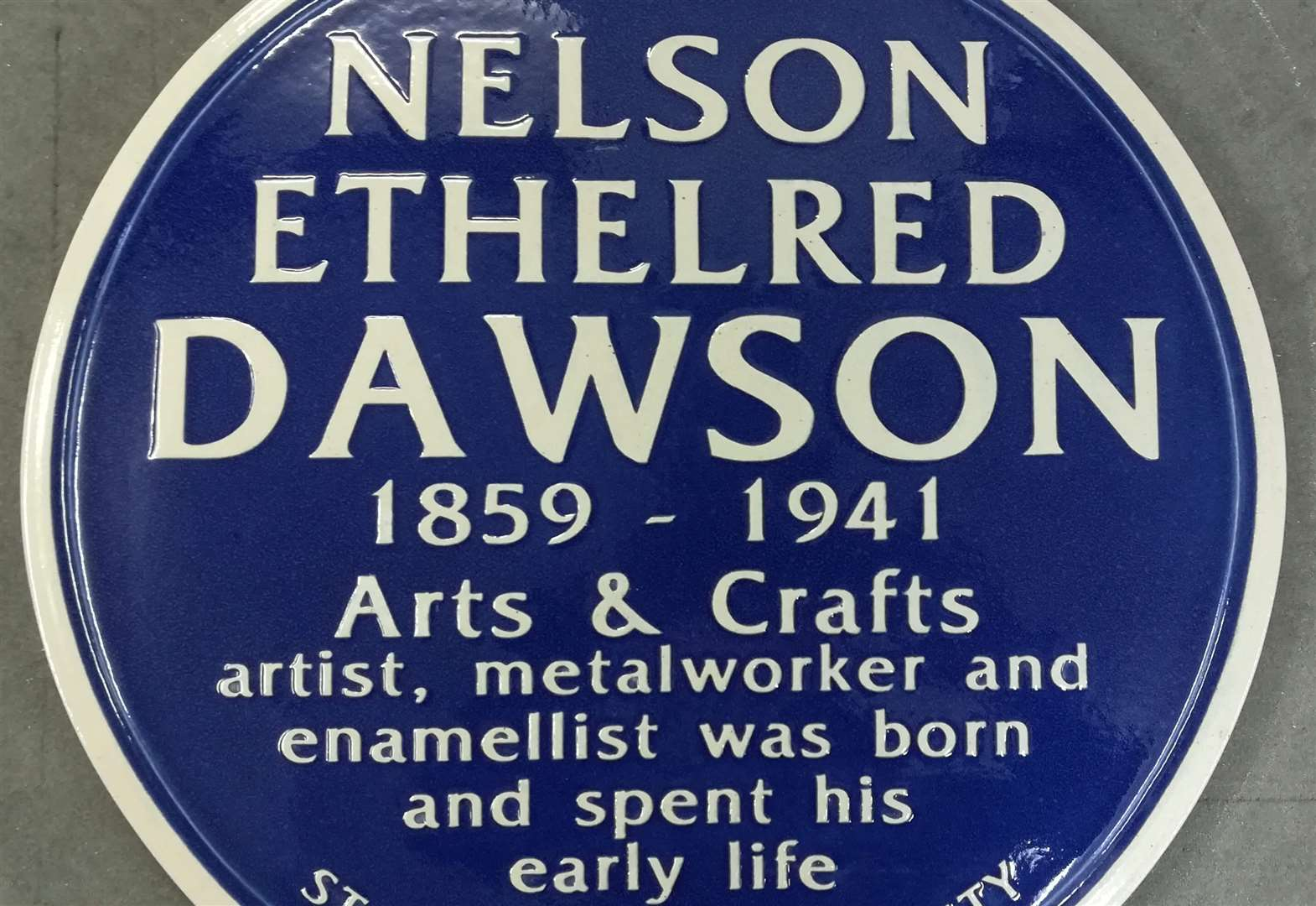 Blue plaque for prominent son