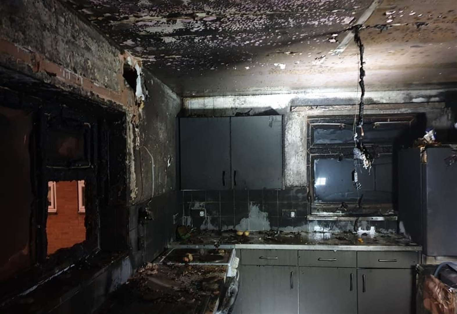 Mum and daughter escape devastating fire