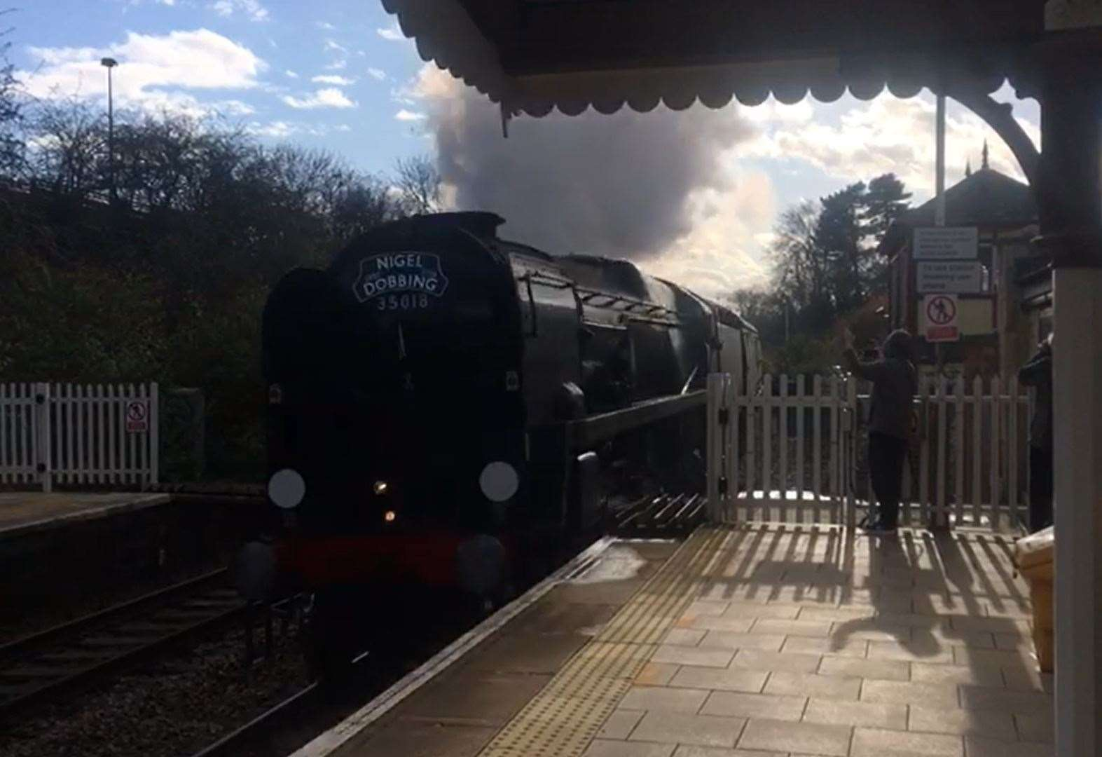 Video: Memorial train steams through Stamford