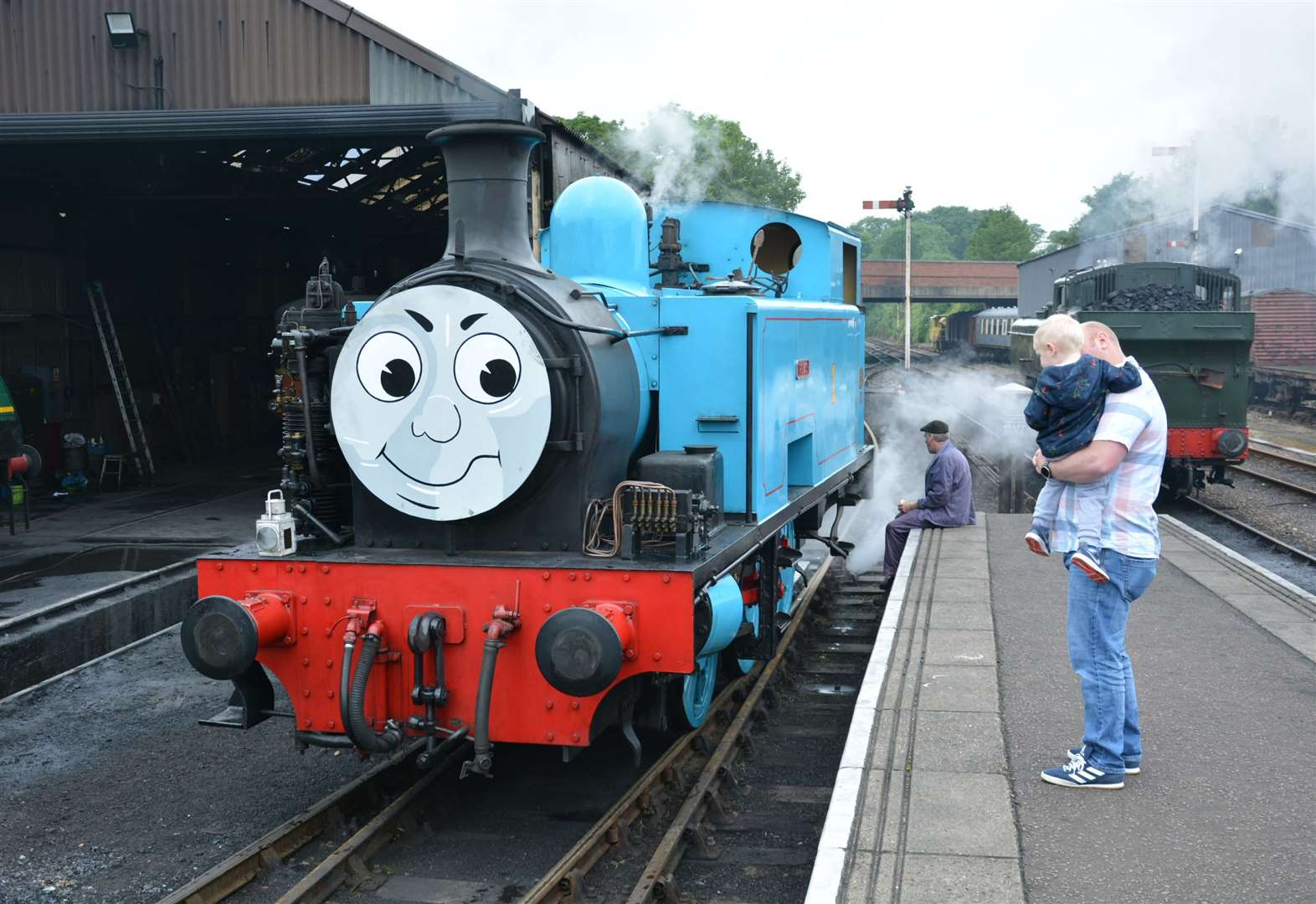Popular Thomas will be hauling half term specials at Nene Valley Railway on Saturday