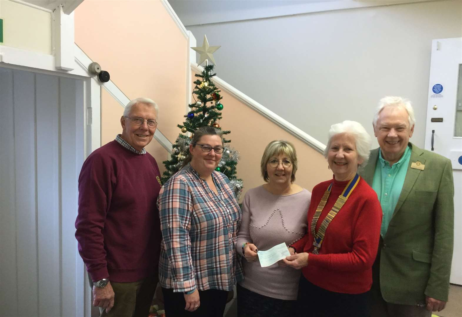Rotary club helps fund Christmas meal