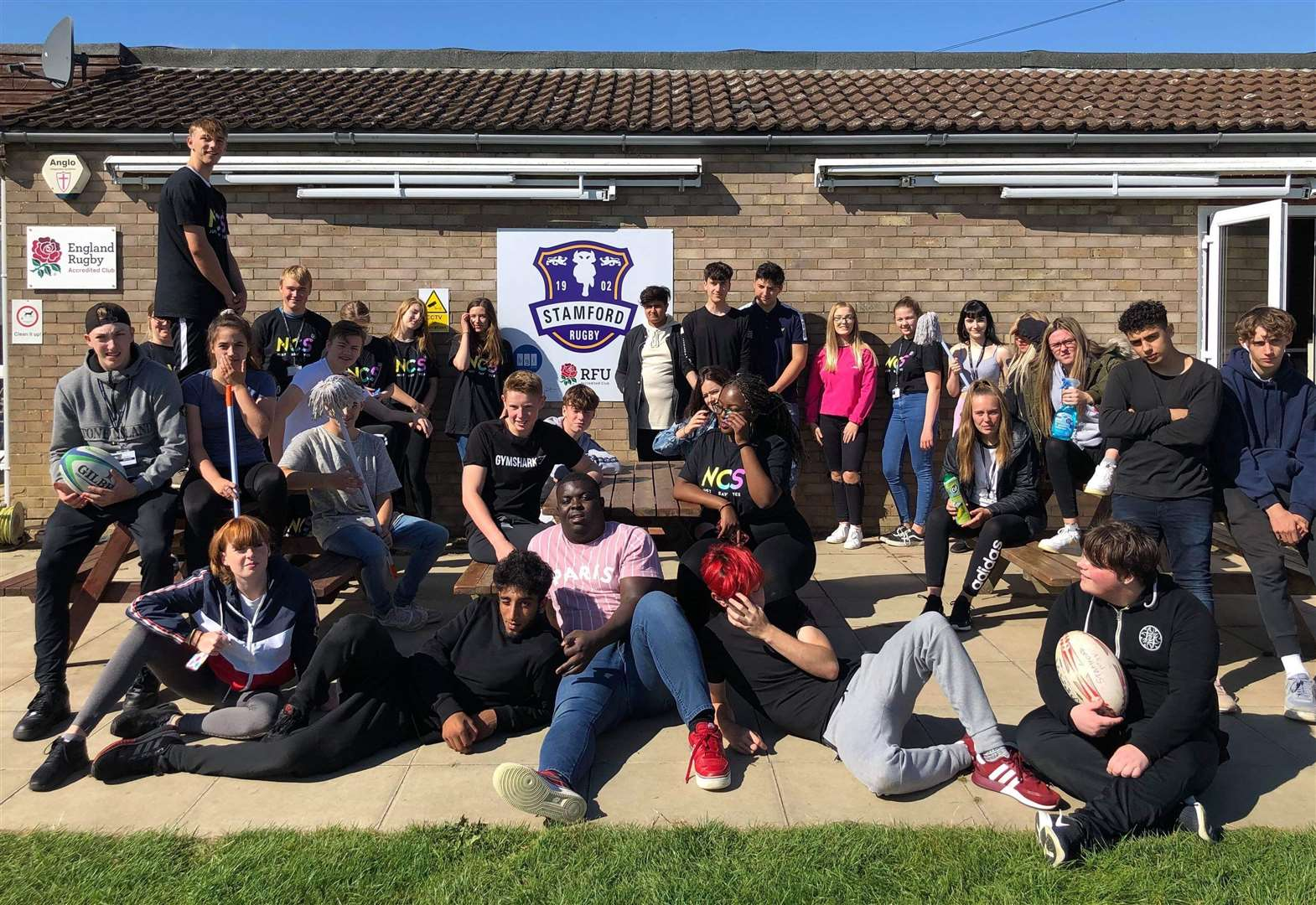 Rugby club is helped by NCS students