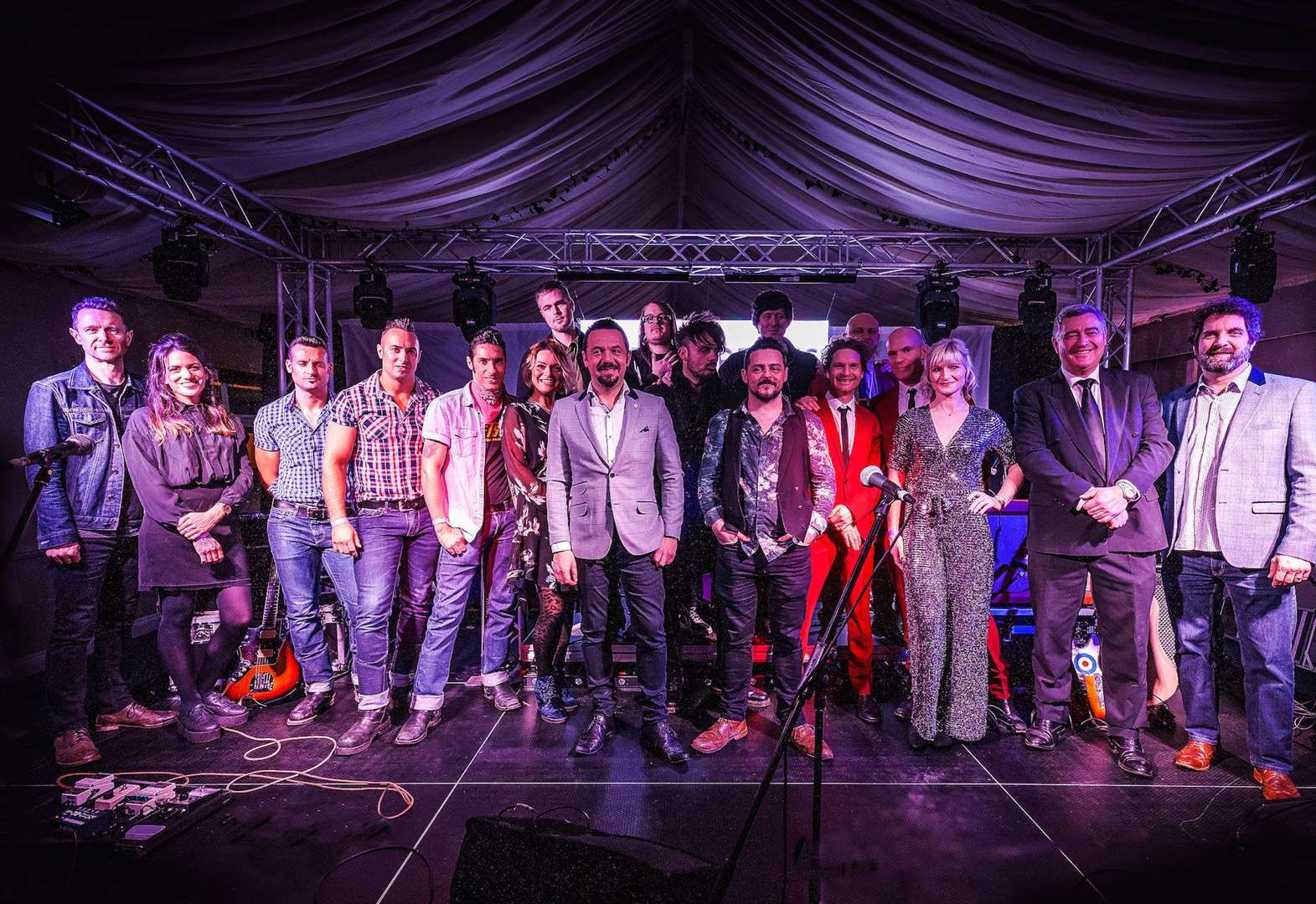 Bands showcase talents at website launch