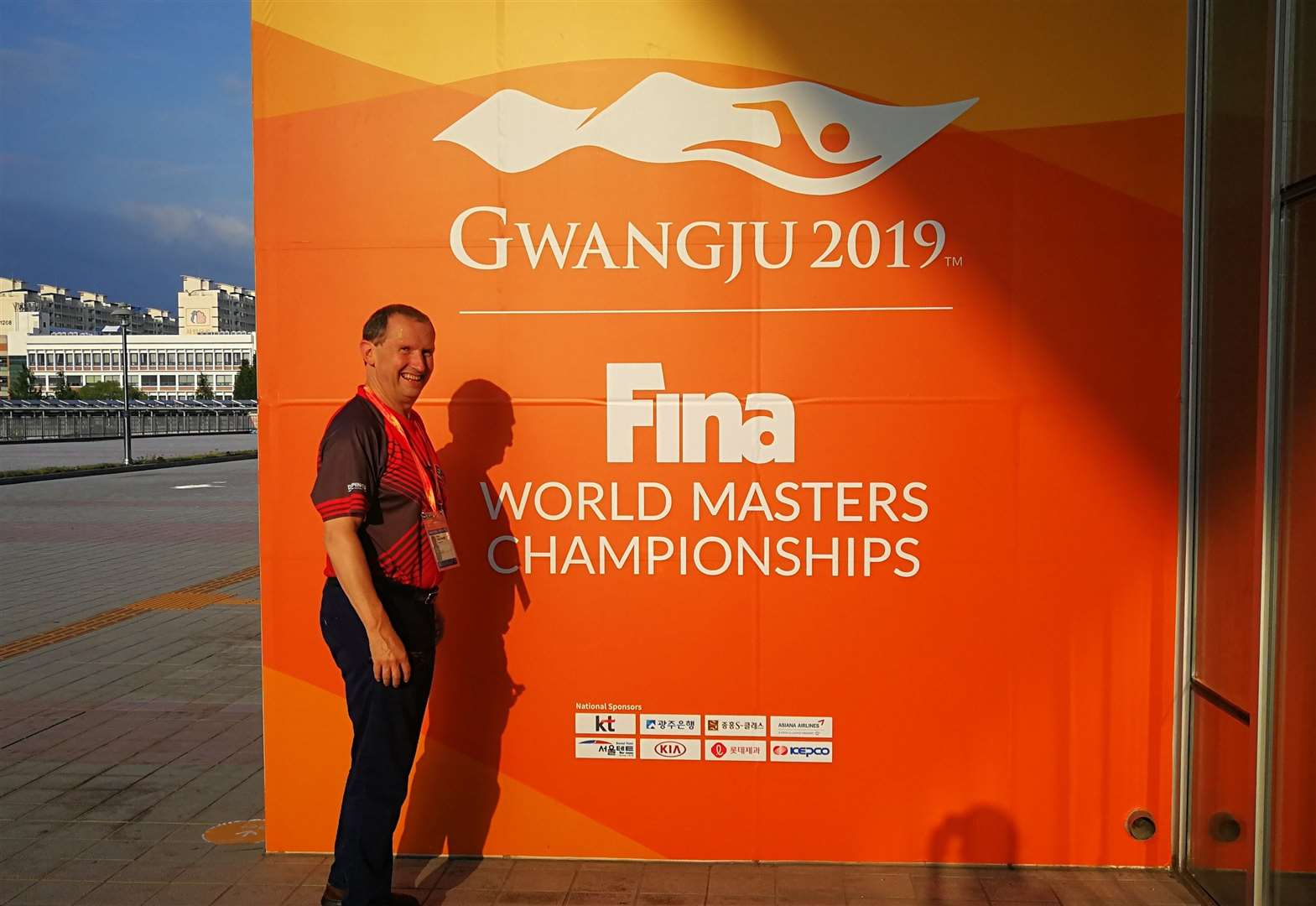 Chris competes against the world's best in masters finals