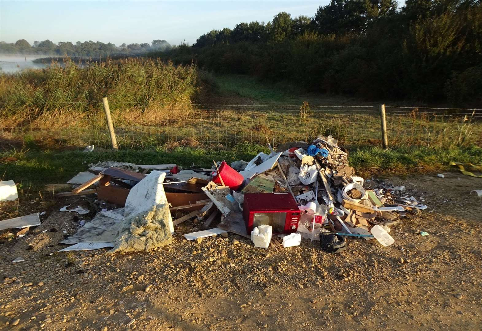 Anguish over fly tipping at beauty spot