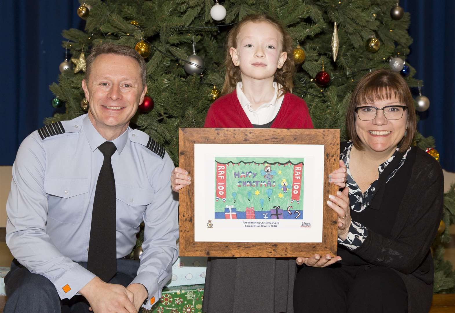 Year three pupil's design win's RAF Wittering Christmas card competition