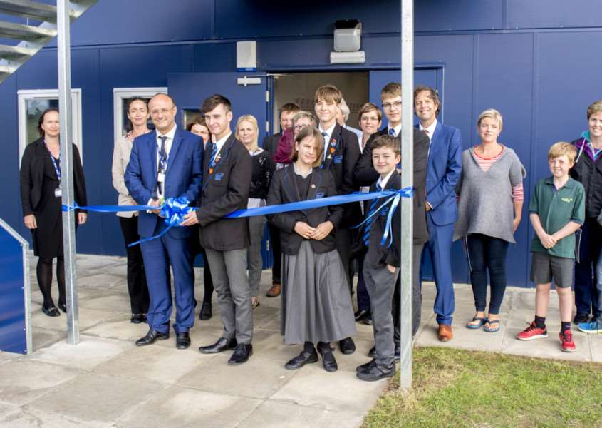 Visitors look round the new �500,000 extension at Casterton College Rutland