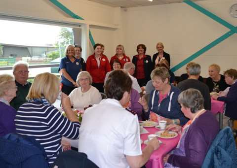 Bourne tesco invite group from Bourne Salvation Army to enjoy afternoon tea