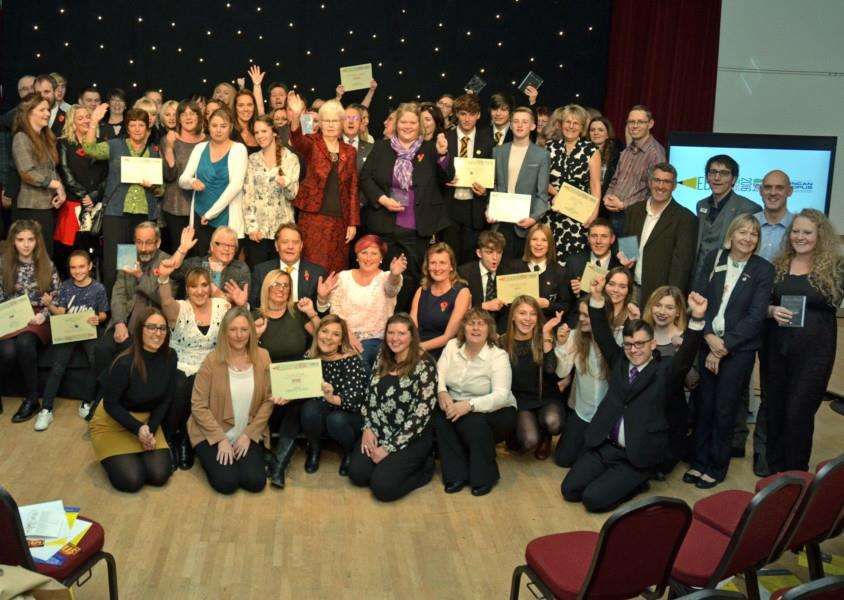 Winners, award sponsors and guests at the Lincolnshire Free Press and Spalding Guardian Education Awards in 2016.''Photo by Tim Wilson. SG101116-227TW.