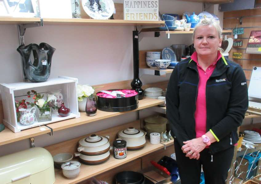 Uppingham's Age UK store, with manager Caroline Tyler EMN-171001-114225001