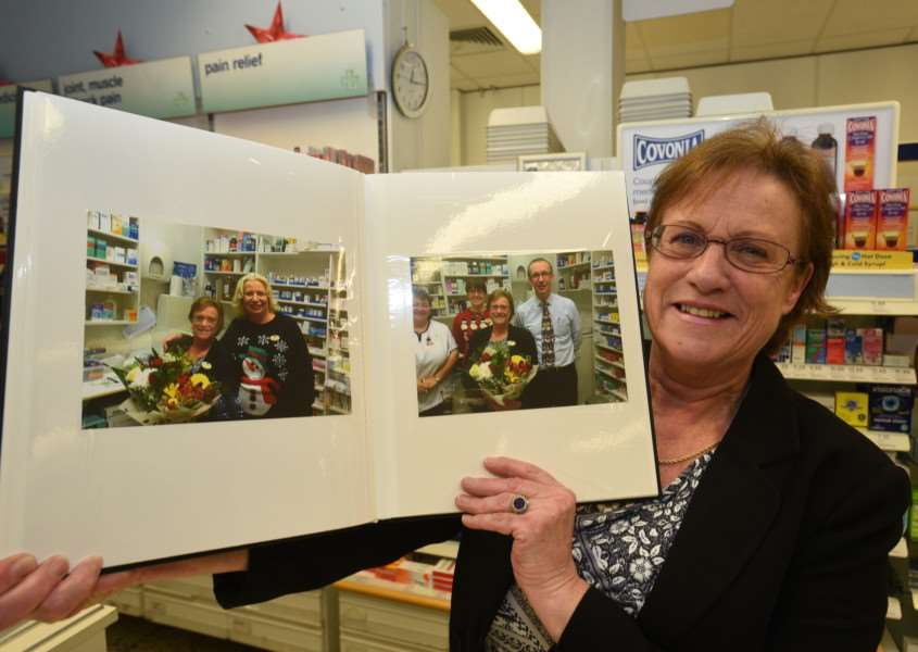 Julie Green retires from Boots the Chemist at Stamford after 30 years service EMN-151230-151948009 EMN-151230-151948009