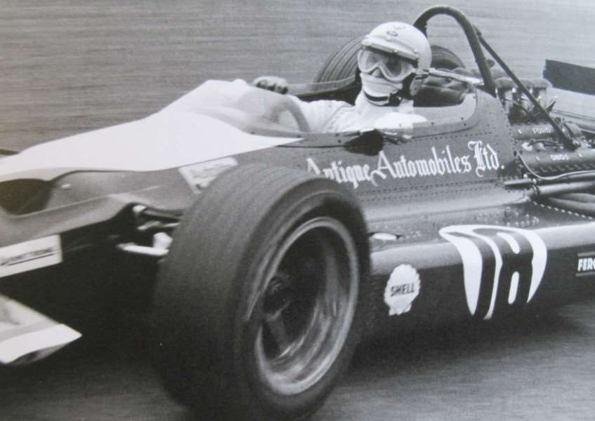 Vic Elford racing at Silverstone in 1969 in one of Colin's F1 cars