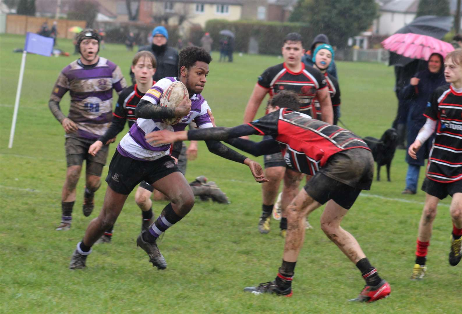Stamford Under 15s claimed a last-gasp victory over Oundle. Photo: Darren Dolby (7133259)