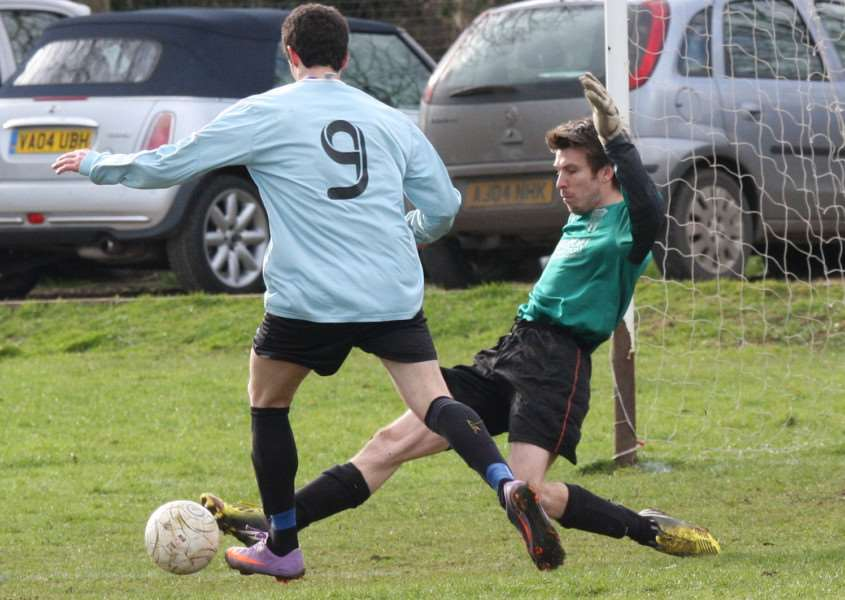 Ryhall United v Peterborough ICA Sports Reserves. Photo: Rob Campion EMN-140224-110715001