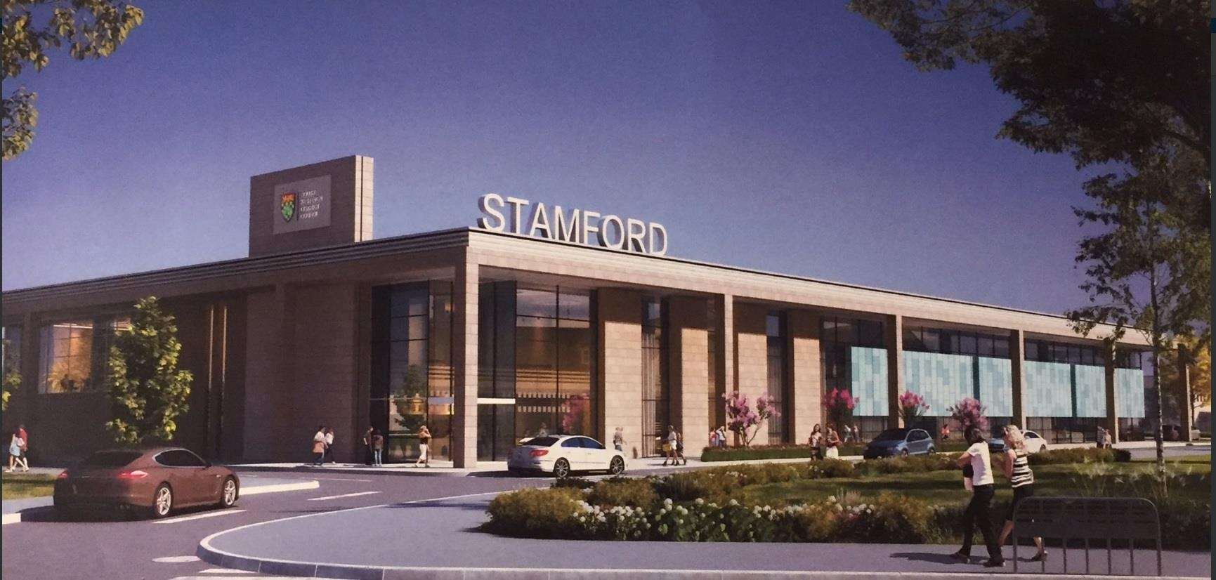 An artist's impression of how the new Stamford Leisure Centre will look (7534547)