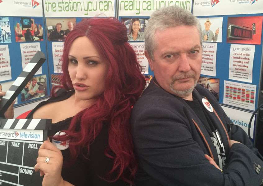 Hereward Television director Jade Cawthorn and station director Alex Geairns. EMN-160113-154619001