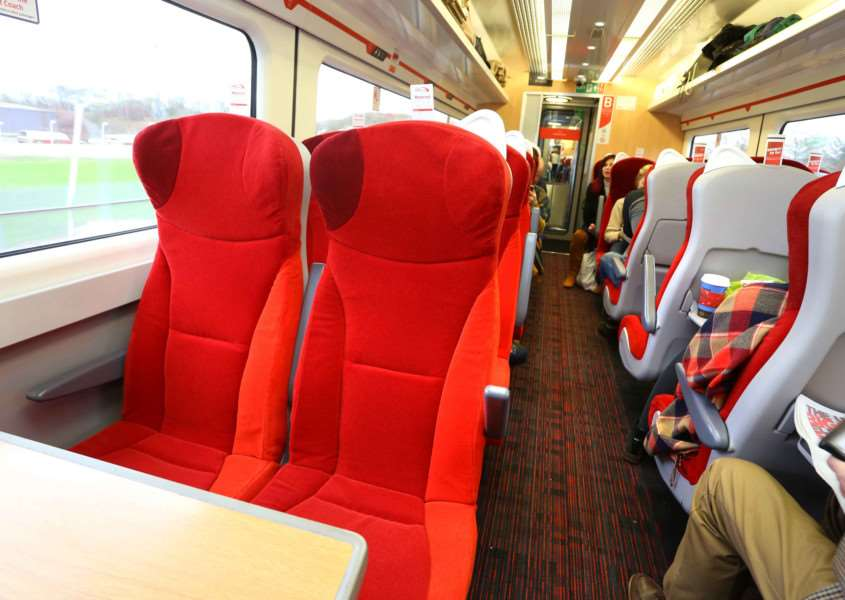 Virgin trains travelling on the East Coast Main Line have been revamped. Photo: Simon Williams