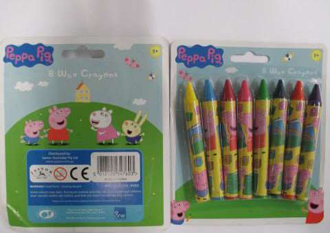 Peppa Pig crayons found to be containing asbestos
