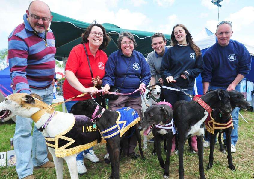 Lincolnshire Greyhound Trust members at the last-ever Deepings Show in 2013 at Mill Field (Deepings Showground) in Market Deeping. Photo by David Lowndes. ''METP-10613-DL355.