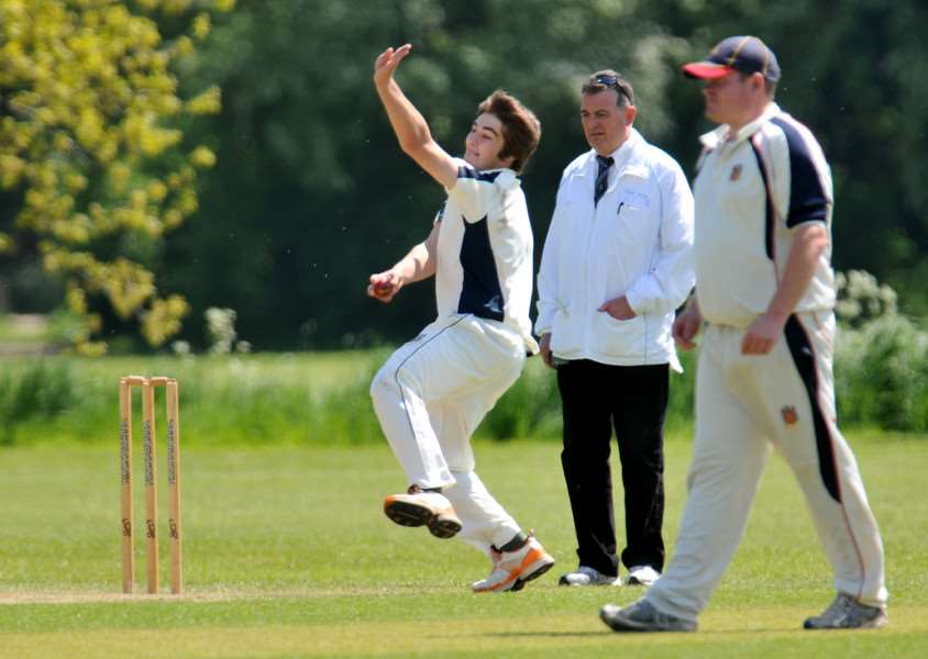 Brodie Ellis bagged 5-27 for Wisbech at Barnack.