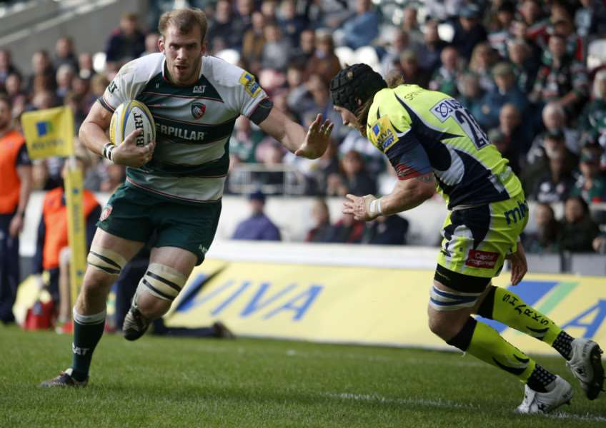 Tom Croft back in action for Leicester Tigers. Photo: Tiger Images EMN-151013-112555001