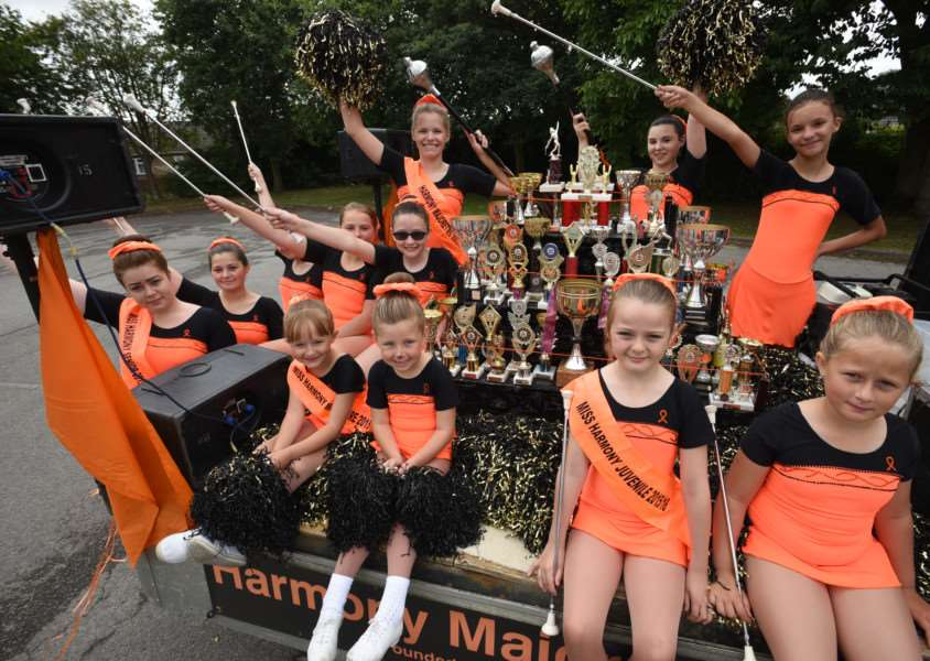 Deeping Carnival Parade from the leisure Centre car park - pictured are the Harmony Majorettes EMN-151207-180016009 EMN-151207-180016009