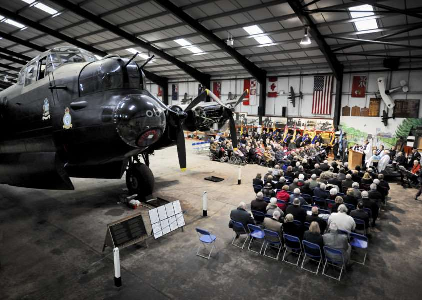 "East Kirkby Aviation Museum under the spectacle of Avro Lancaster Bomber ""Just Jane"" ENGEMN00120130102155548"