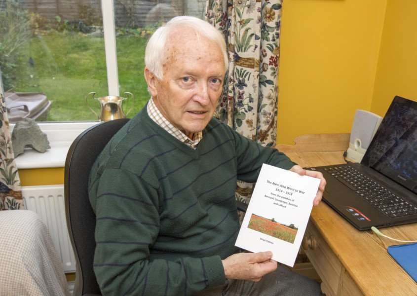 Brian Palmer has written a book about men from the area who died in the First World War. By Lee Hellwing