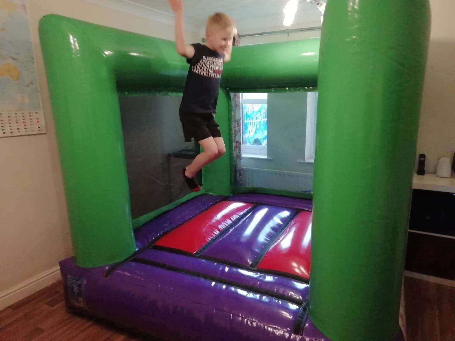 The indoor bouncy castles need 3m by 3m floorspace